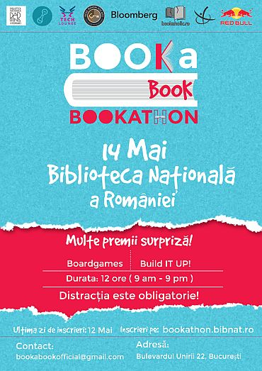 afis bookathon biblioteca nationala