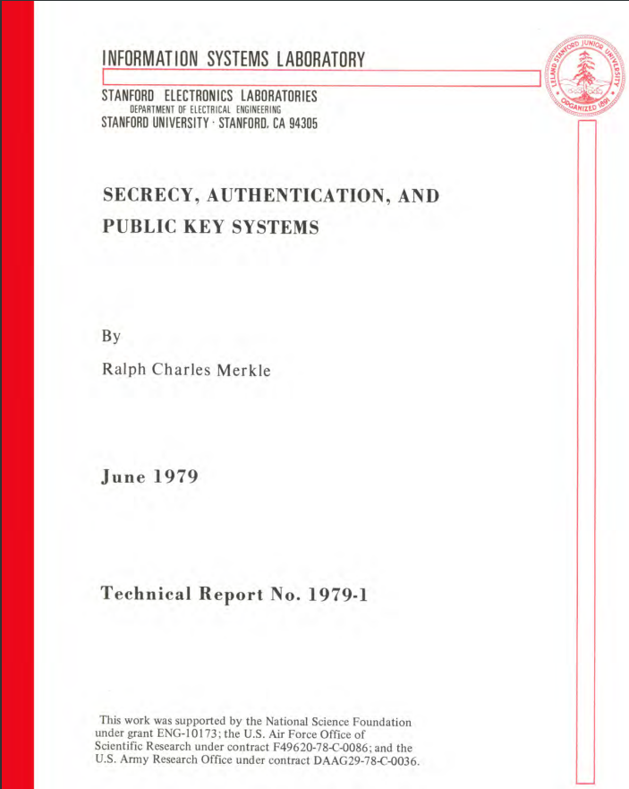 Secrecy Authentication And Public Key Systems