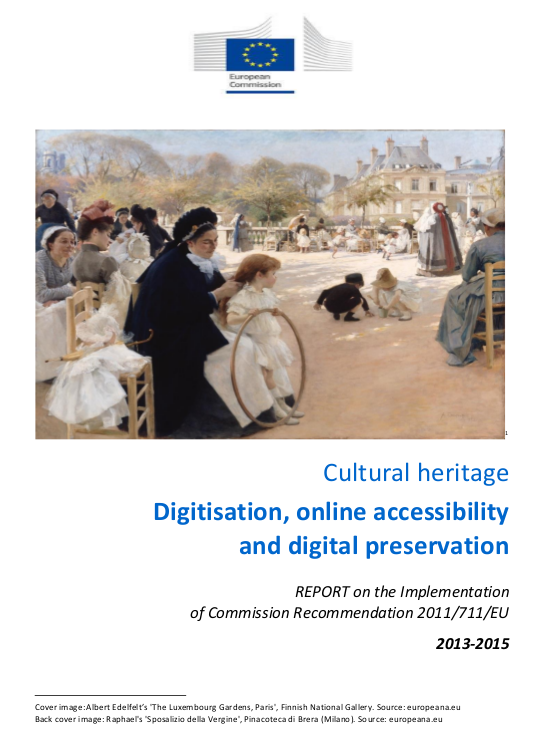 Cultural heritage digitisation online accessibility and digital preservation (coperta documentului analizat)