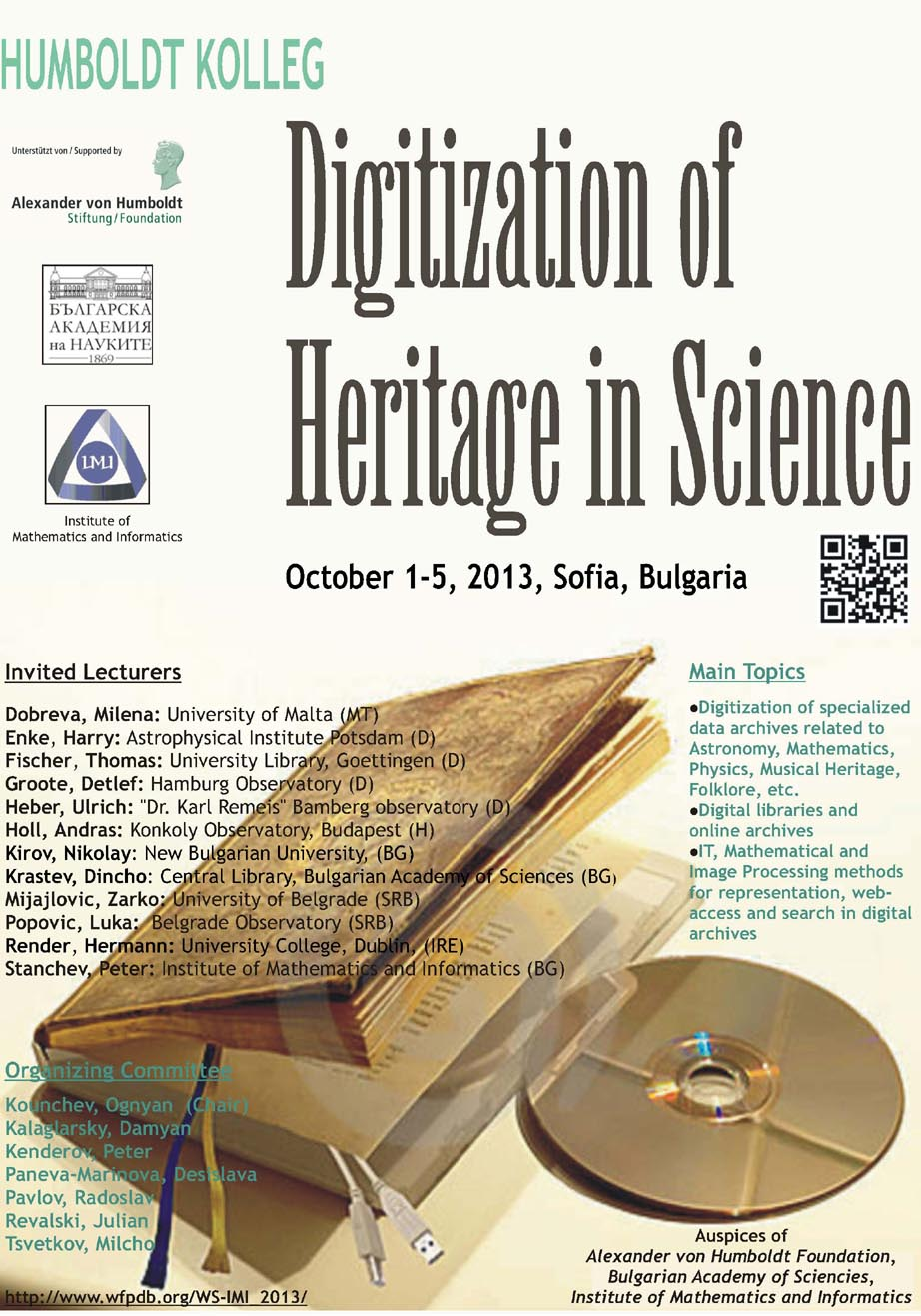 DigitisationOfHeritageInScience